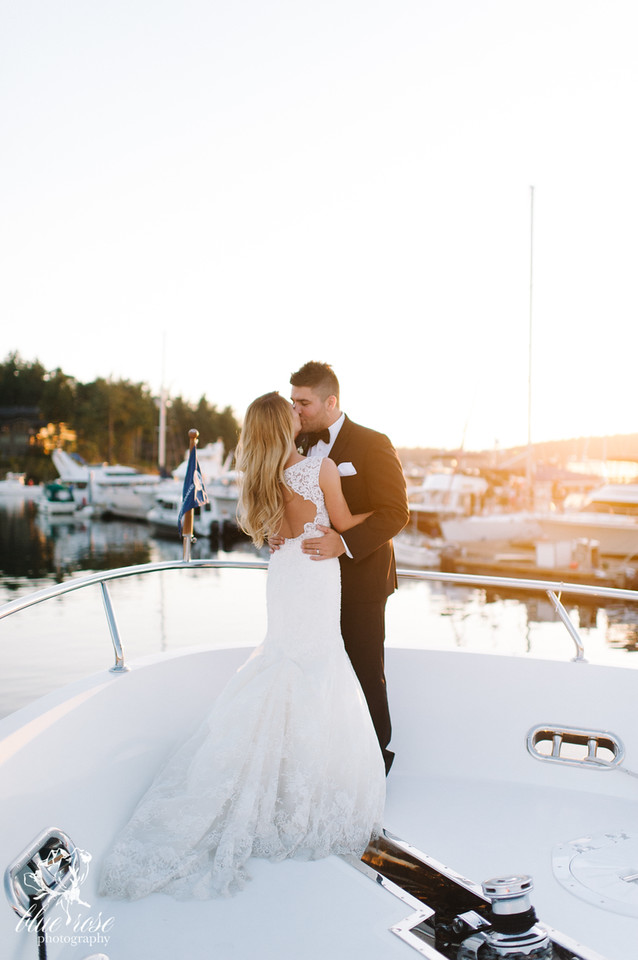 We may not know this couple, but I have to be honest - I got a bit emotional looking at this gallery! It's just THAT breathtaking. Blue Rose Photography of Seattle captured Sara & Jonathon's special day back in August of 2015.  This lovely couple tied the knot at the Roche Harbor Resort, arrived via seaplane, and even snapped some shots while snuggling up on a boat...Does it get more Washington than that?! I don't think so! Click through the gallery and get wedding inspo, or to just gaze upon the beauty that is this glorious wedding. Do you or somebody you know have a wedding you think deserves the spotlight? We LOVE (pun intended) documenting love stories, so email us at hello@seattlerefined.com to submit some wedding or engagement shots! (Image: Blue Rose Photography)