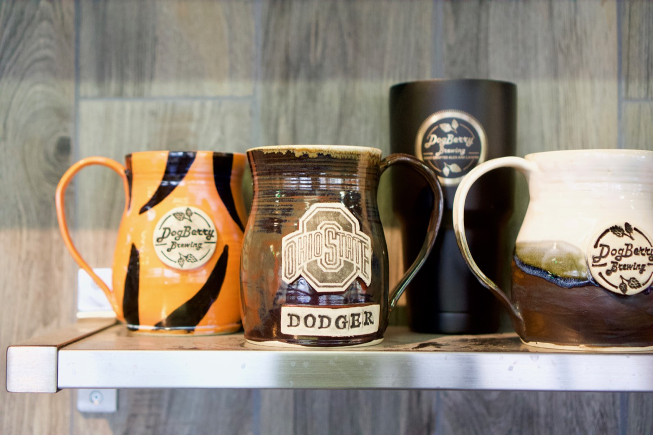 Some DogBerry mugs showing some love for Ohio teams / Image: Brian Planalp // Published: 1.7.19
