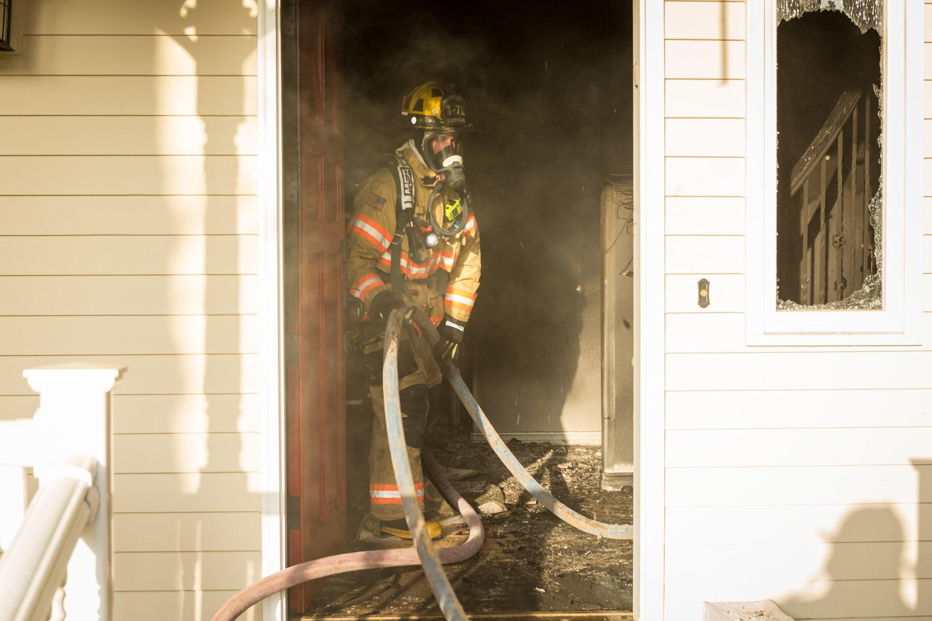 Good Firefighters Work To Put Out A Fire At A Gresham Home In The 35200 Block Of