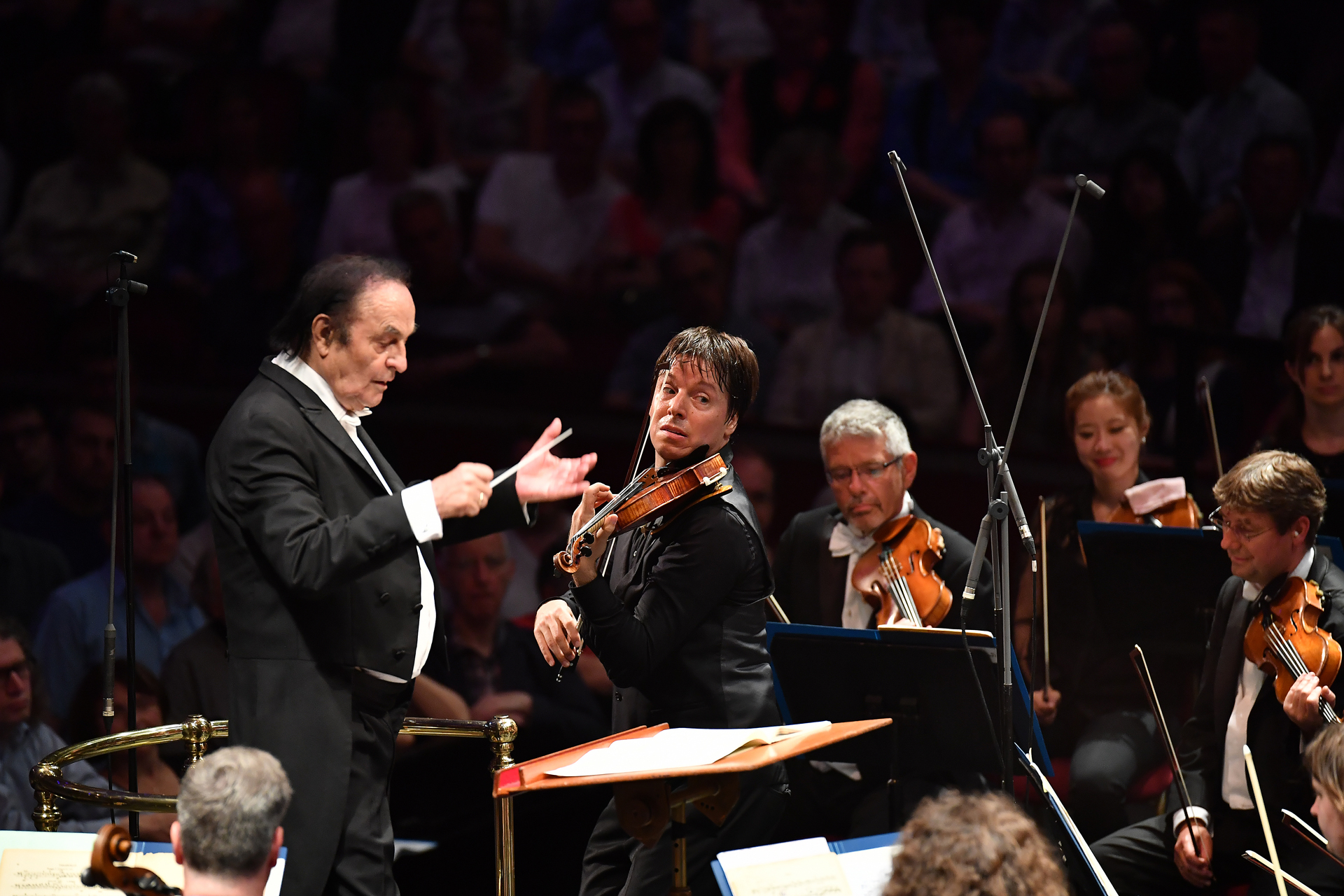 Violinist Joshua Bell performs Édouard Lalo's Symphonie espagnole, Op. 21 with the Royal Philharmonic Orchestra conducted by Charles Dutoit at the BBC Proms at the Royal Albert Hall.  Featuring: Joshua Bell, Charles Dutoit Where: London, United Kingdom When: 17 Aug 2017 Credit: BBC/Chris Christodoulou/Supplied by WENN.com  **WENN does not claim any ownership including but not limited to Copyright, License in attached material. Fees charged by WENN are for WENN's services only, do not, nor are they intended to, convey to the user any ownership of Copyright, License in material. By publishing this material you expressly agree to indemnify, to hold WENN, its directors, shareholders, employees harmless from any loss, claims, damages, demands, expenses (including legal fees), any causes of action, allegation against WENN arising out of, connected in any way with publication of the material.**