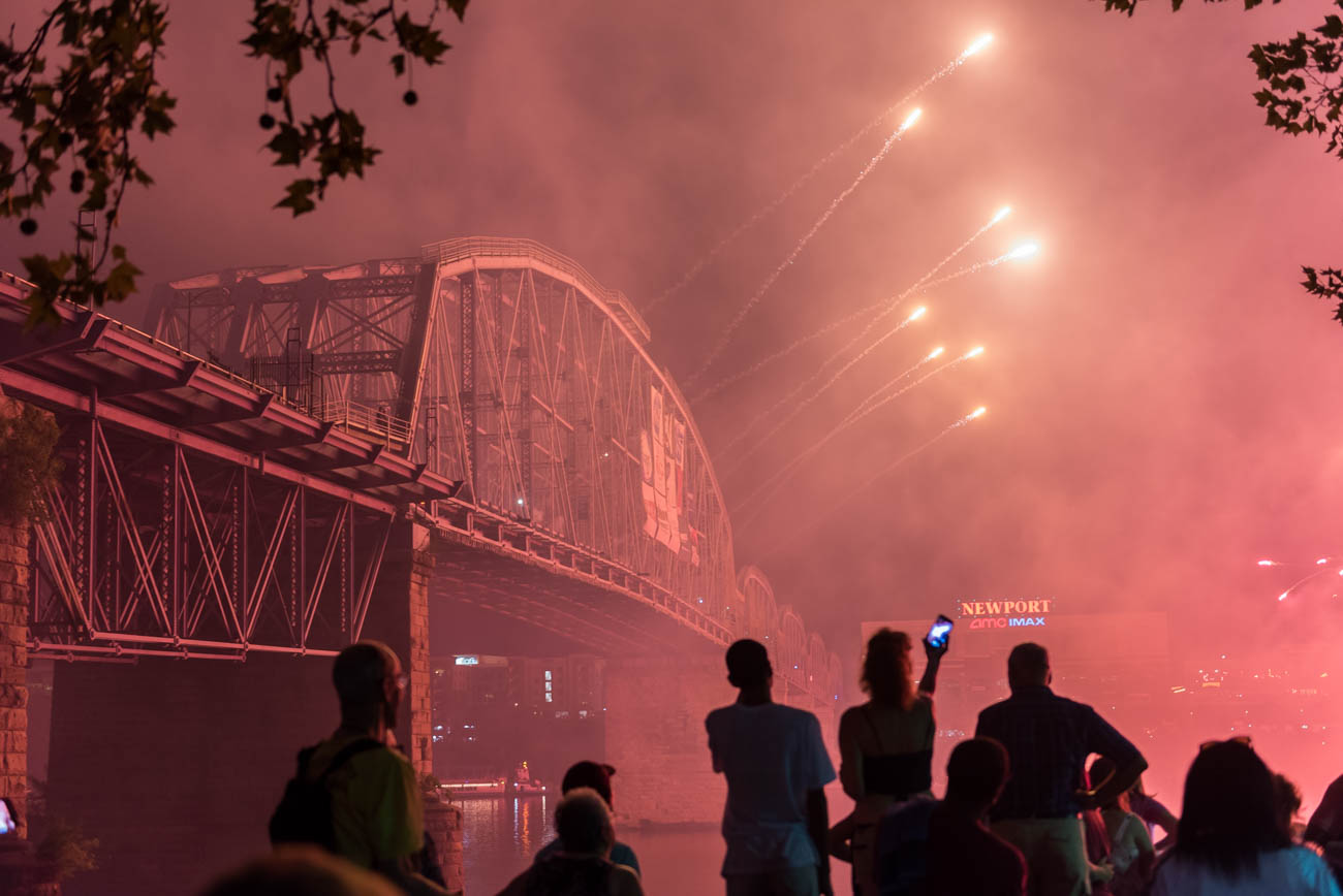 The 42nd annual Western & Southern/WEBN Riverfest fireworks illuminated the sky above the Ohio River on Sunday, September 2. Thousands filled the banks of the Ohio on both sides. The event is the area's biggest firework show of the year, and featured live music from Sir Sly, Arkells, Madison Beer, and others at Sawyer Point. / Image: Mike Menke // Published: 9.3.18