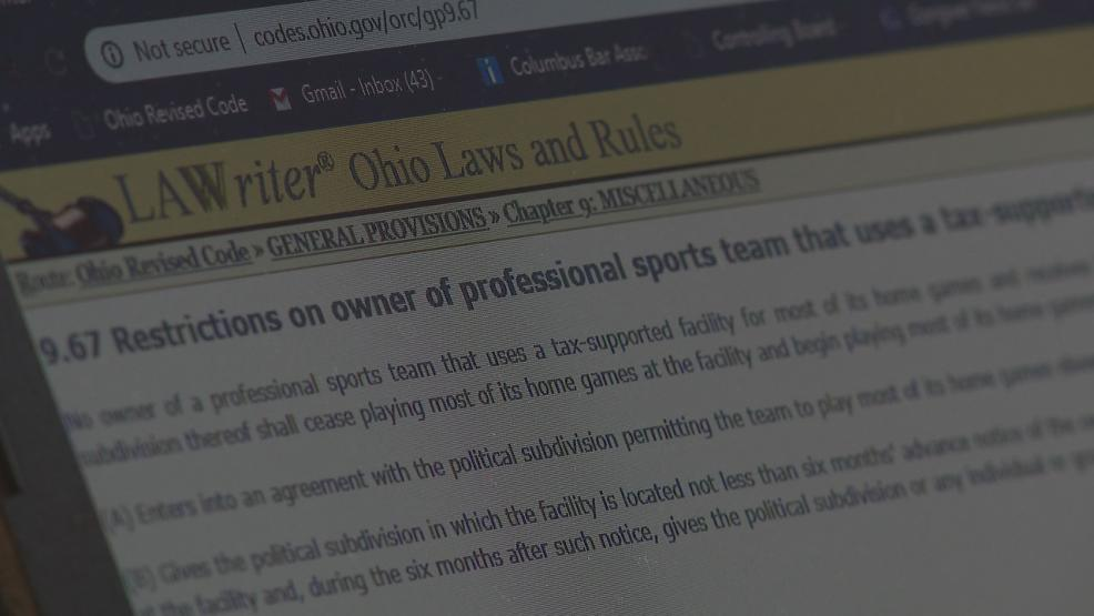 A state employee inadvertently played a critical role in keeping the team in Columbus when he stumbled across the Art Model law (WSYX/WTTE)