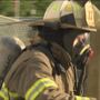 Volunteer firefighters put their training to the test