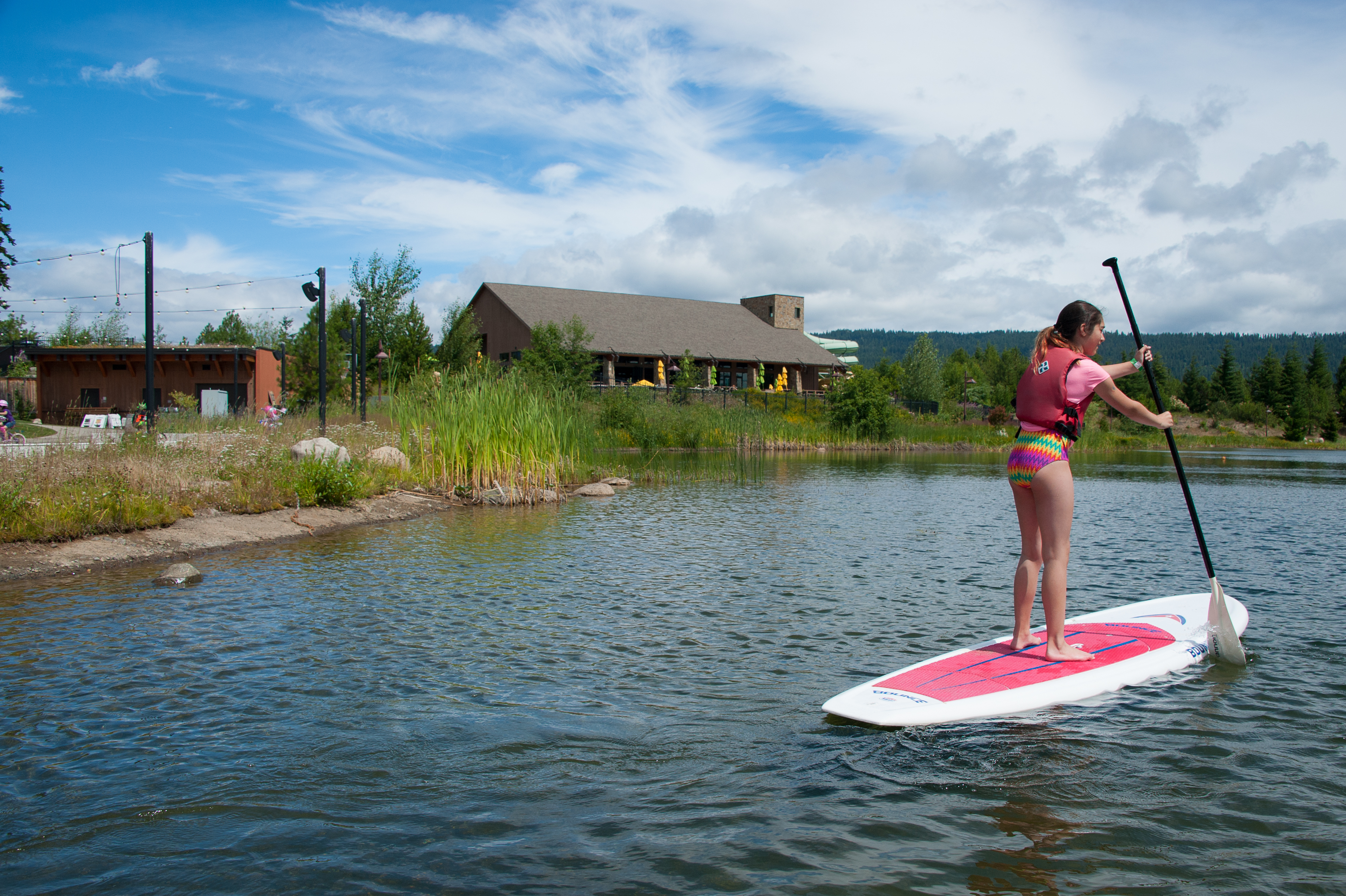 Many outdoor recreation options include paddle board, canoes, kayaks, bikes and more.