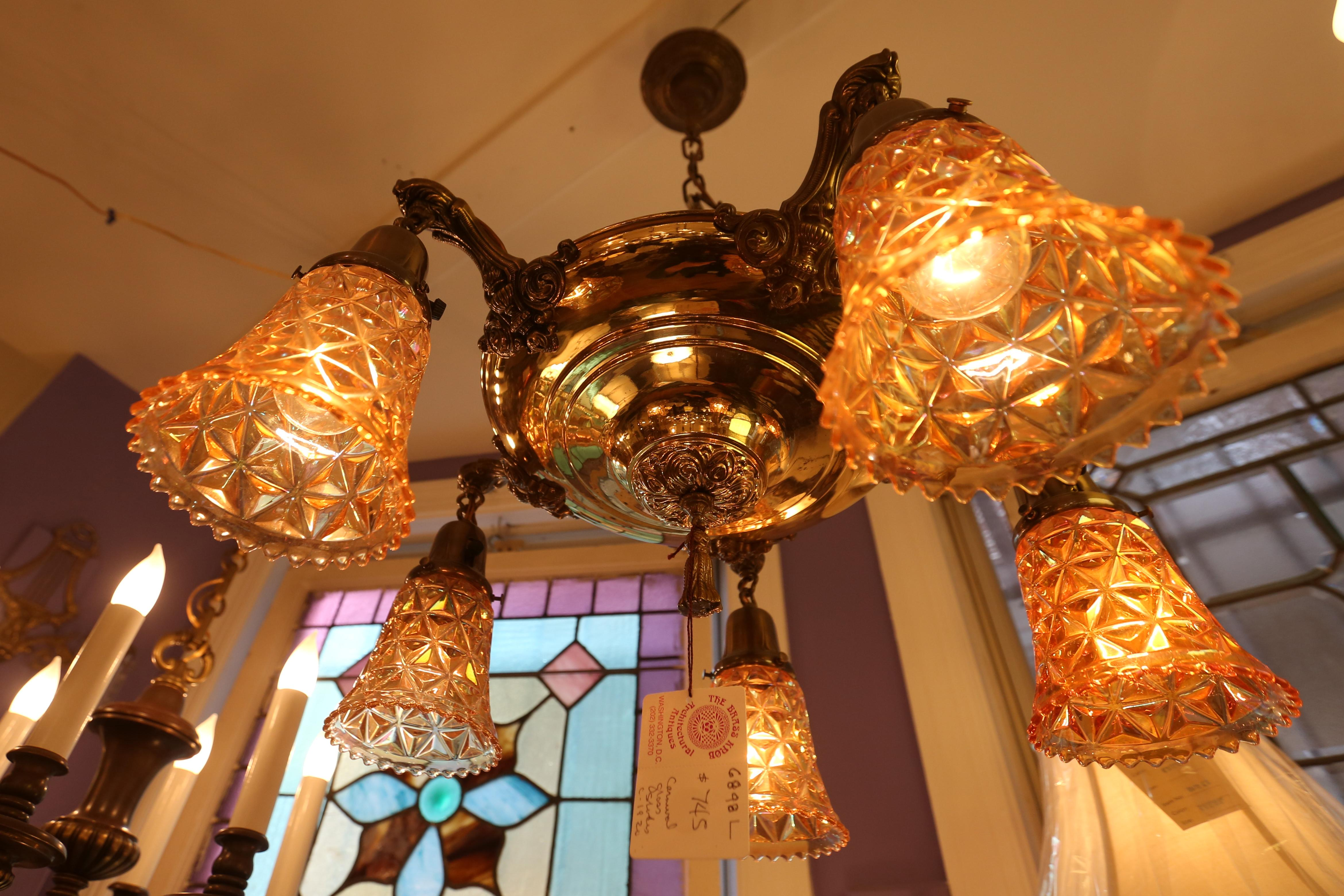 1920s chandelier - $745, available at The Brass Knob. (Amanda Andrade-Rhoades/DC Refined)
