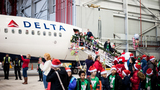 Photos: The North Pole exists in a Delta Air Lines hangar