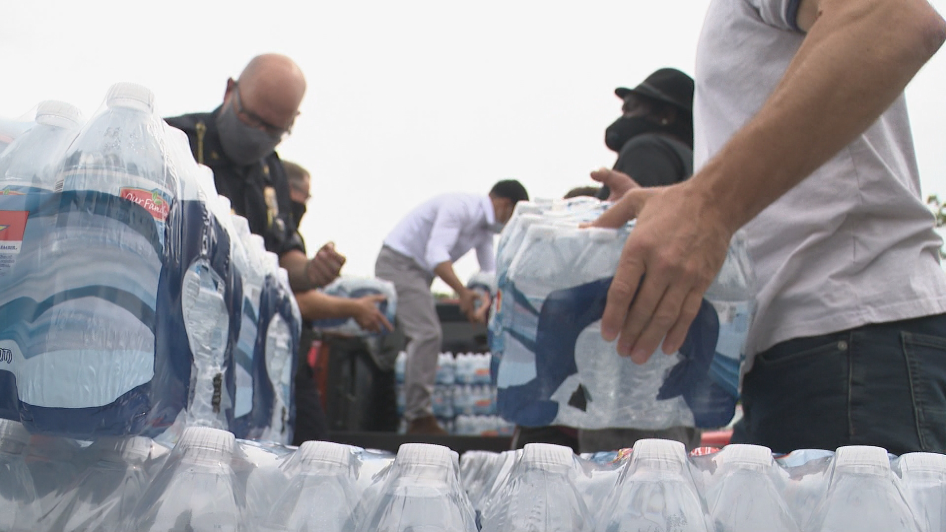 Several organizations were involved in the donation process, Thursday, July 30, 2020.{ } Including, Village in the Valley, Uplift Kalamazoo as well as Portage police, The city of Portage, and Kalamazoo. (WWMT/Jason Heeres)