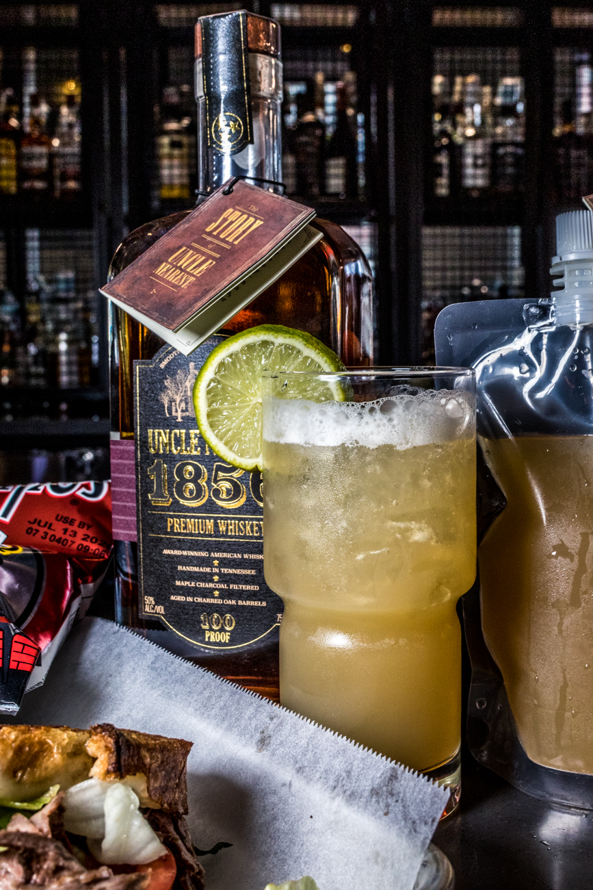 PLACE: On the Rhine Eatery and Cafe 1883 / ADDRESS: 100 E. Court Street (Downtown above Kroger) / Tennessee Smash: Uncle Nearest whiskey, honey, ginger syrup, ginger limeade, and lime juice / Carryout available online and through Grubhub delivery: ontherhineeatery.com / Image: Catherine Viox // Published: 4.28.20