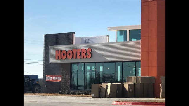 Photo by Nick Bradshaw/KTXS News: Hooters restaurant plans to open its doors in northeast Abilene on Tuesday.