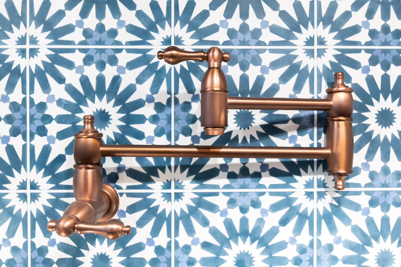 The pot Filler is Signature Hardware Augusta in Antique Copper. / Image: Phil Armstrong, Cincinnati Refined // Published: 6.5.20