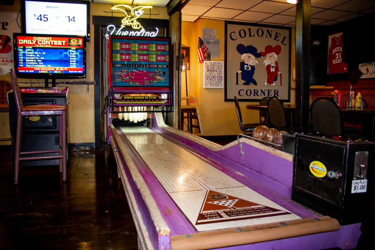 At PeeWee's Place, you can enjoy breakfast, lunch, dinner—or maybe just a drink after a long day. With arcade games, live bands, and a sand volleyball court, it's not hard to have a good time here. ADDRESS: 2325 Anderson Road (41017) / Image: Katie Robinson, Cincinnati Refined // Published: 10.15.18