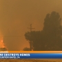 Wildfire burns in Los Angeles County