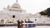 Gallery: Inauguration platform construction underway