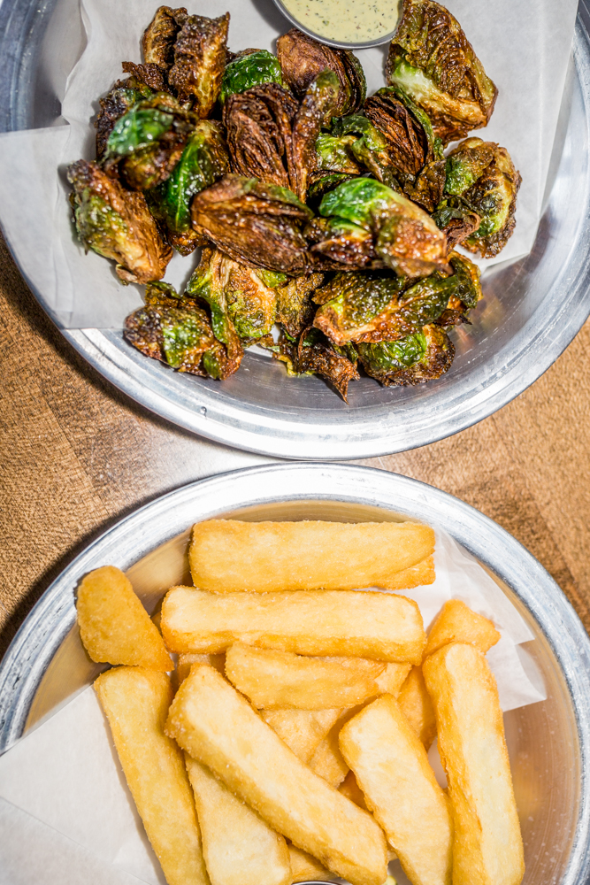 Crispy brussels sprouts and yucca fries with aji verde aioli / Image: Catherine Viox{ }// Published: 6.12.19
