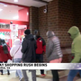 Calm crowds in Alexandria for Black Friday deals on Thanksgiving