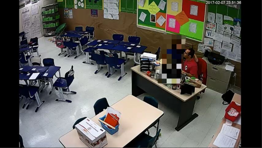 Video released of teacher kissing student in classroom (Boca Raton Police Department)