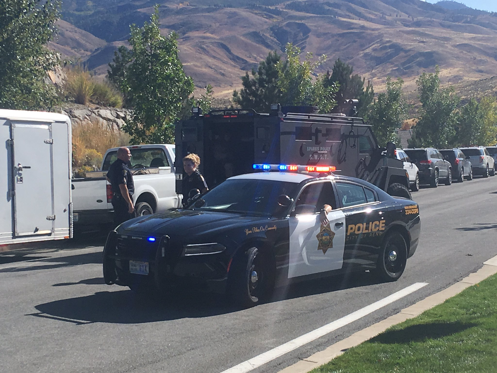 Law enforcement at northwest Reno home owned by a Stephen Paddock (KRNV)