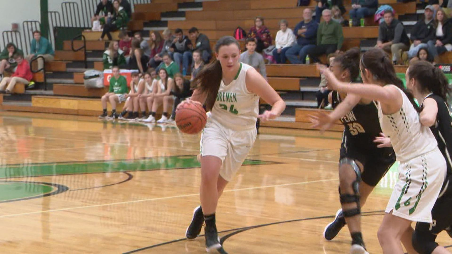 Karlee Feldmna is averaging almost 18 points per game while pulling down 12 rebounds and blocking four shots per contest // WSBT 22 Photo<p></p>
