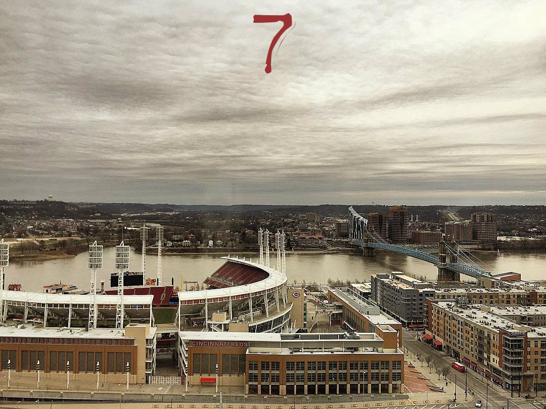 #7 - The view from Atrium II, which, even in the dead of winter, has its beauty. / Image: Leah Zipperstein, Cincinnati Refined