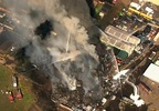 Building destroyed by flames in Northeast Portland - Chopper 2 image 1.jpg