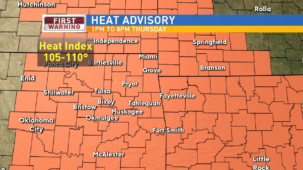 Heat Advisory in effect for Wednesday