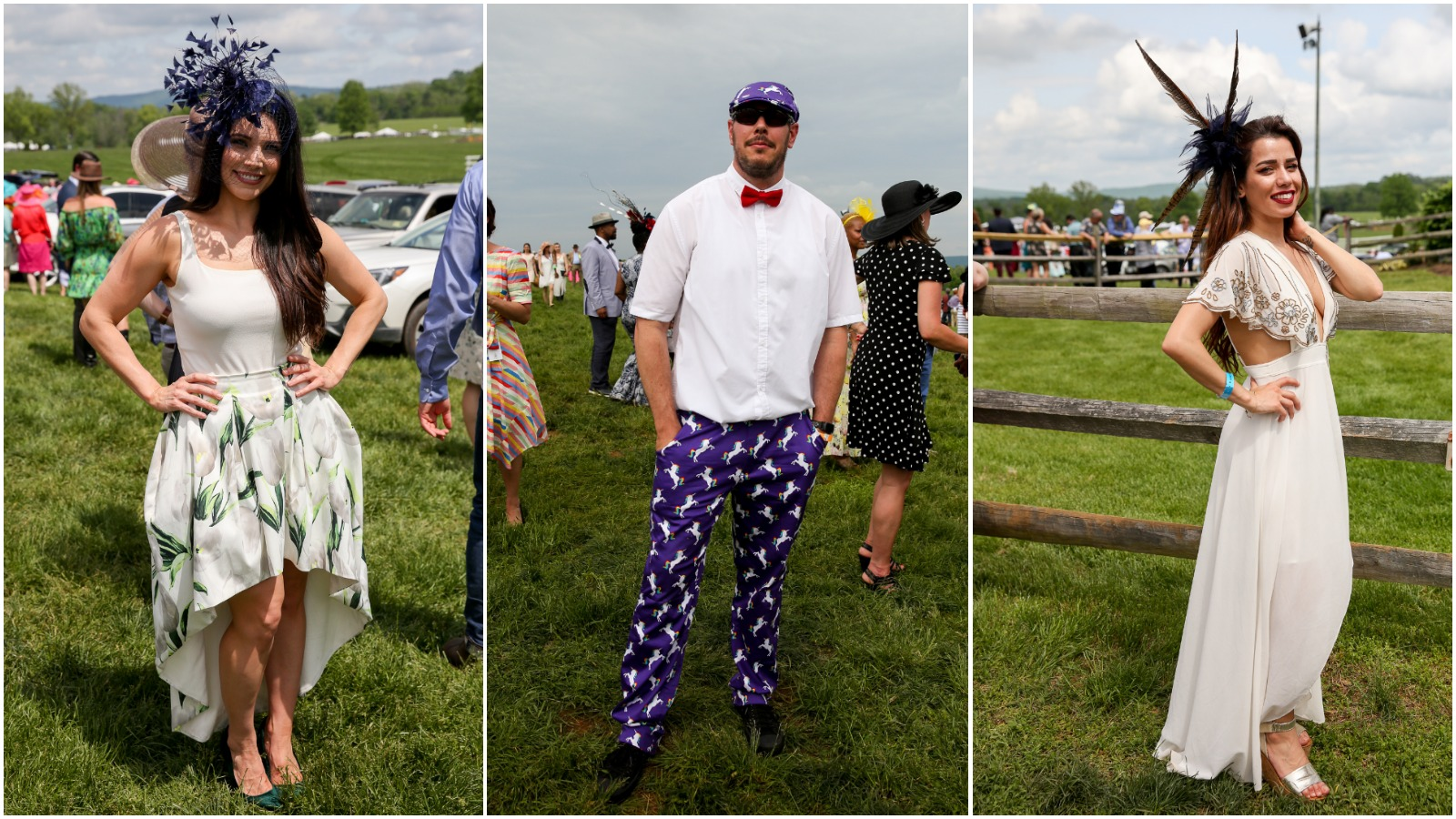 Race day looks can be gorgeous or... a bit eccentric. Here are some of the best and wildest looks we saw at the Virginia Gold Cup in Warrenton, Virginia, this year!{ } (Amanda Andrade-Rhoades/DC Refined)