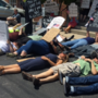 Die-in protest held in opposition to senate healthcare bill
