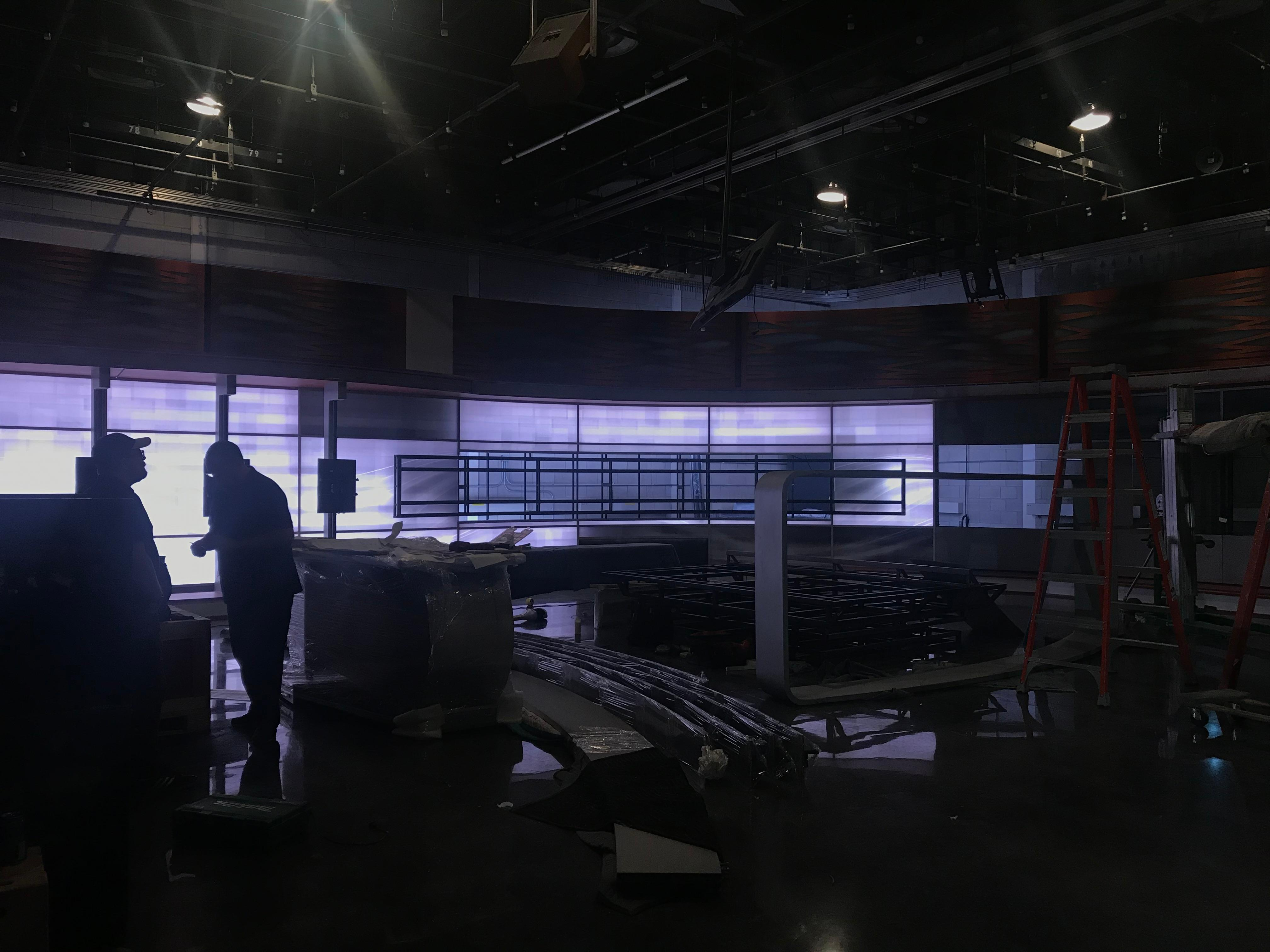 There are more than 28 LED monitors on the new set, including a monitor that's more than 7 feet tall (WSYX/WTTE)<p></p>