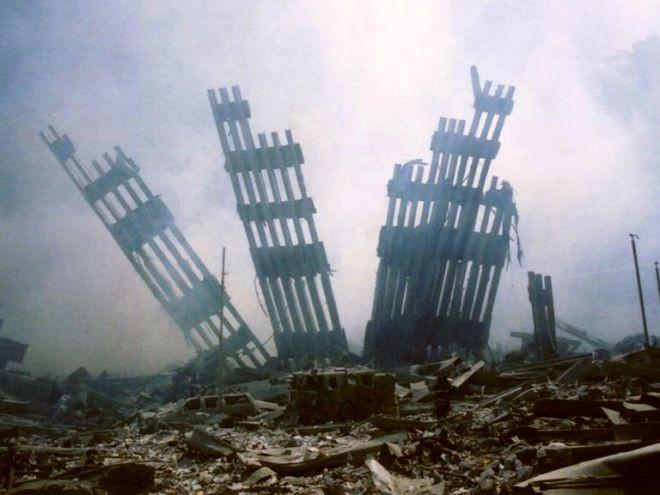 10:28 a.m.: The North Tower collapses approximately 30 minutes after the South Tower.