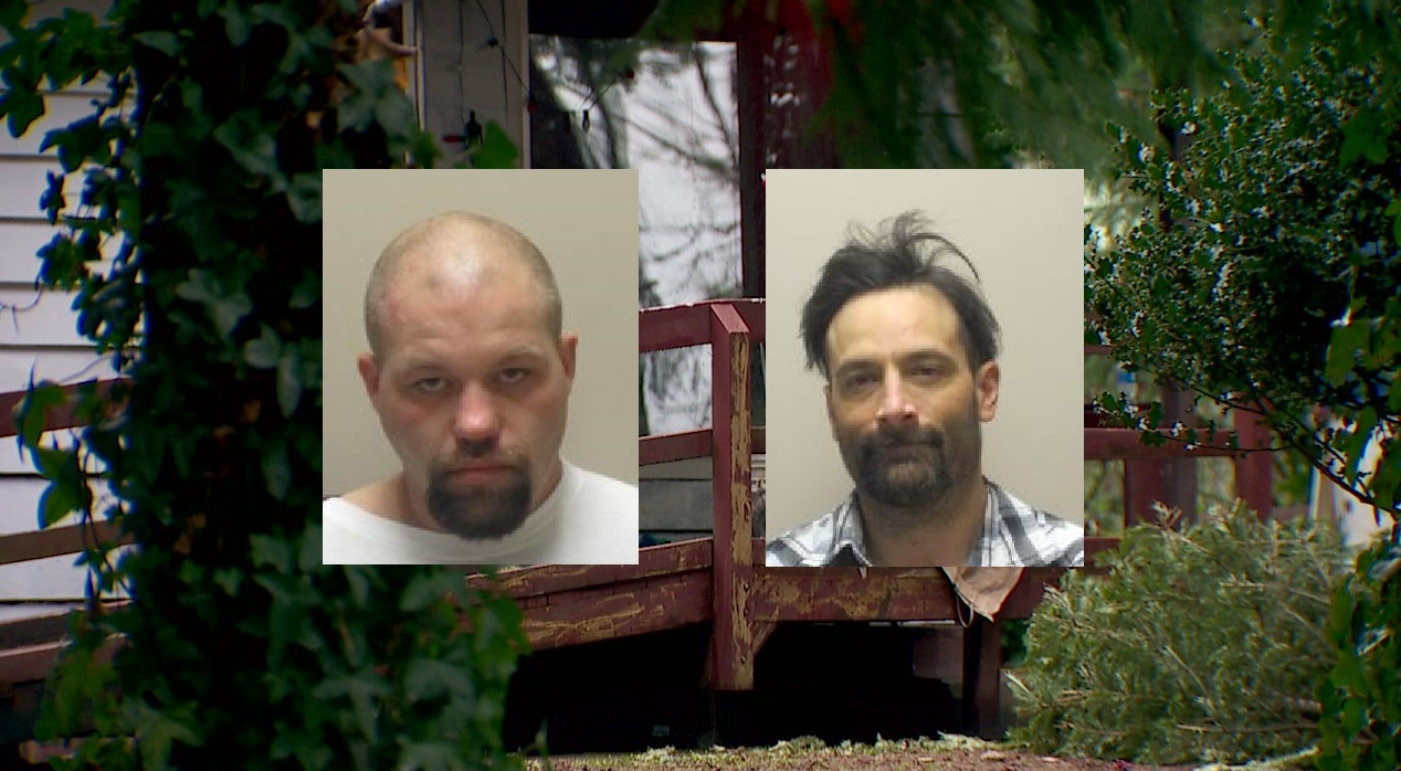 Six suspects including David Barker, left, and Daniel Gomez, right, were arrested in the case.<p></p>