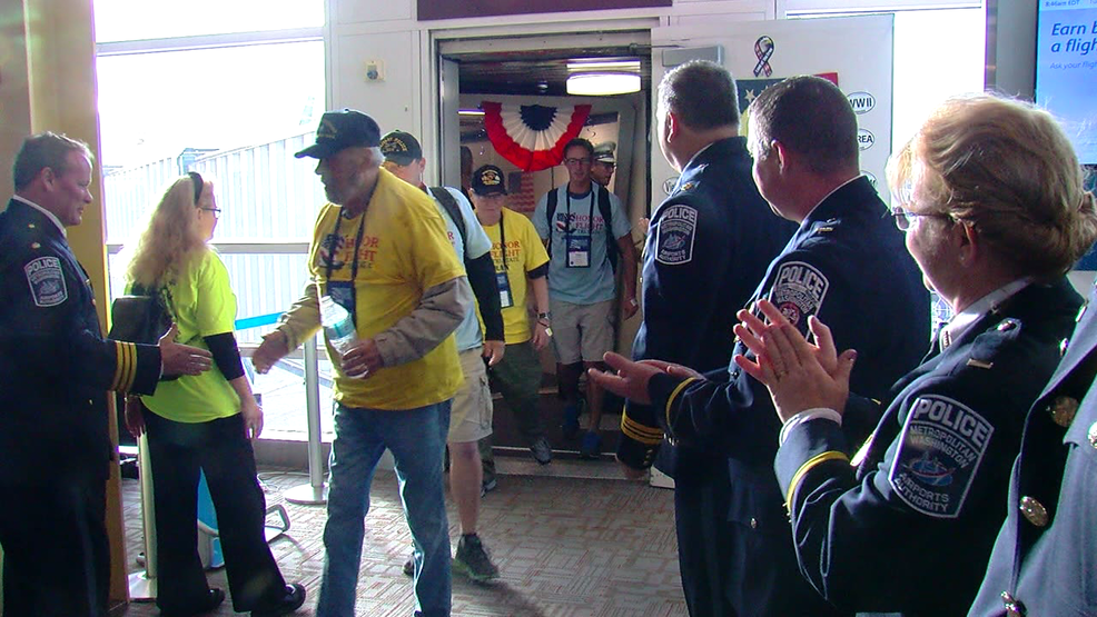 """Veterans honored with """"Virtual Honor Flight"""" and parade"""