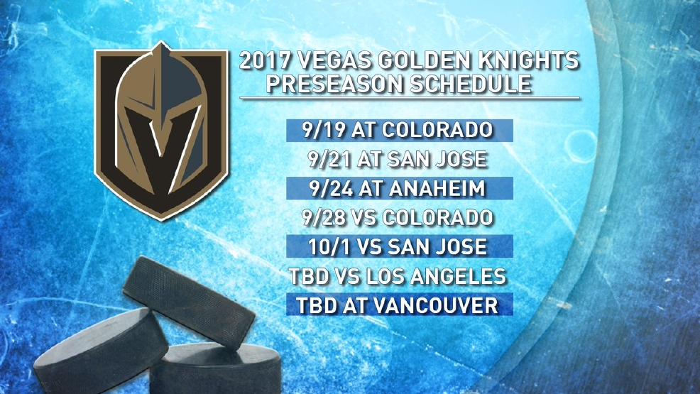 Full Sportscast Golden Knights Confirm Preseason Schedule