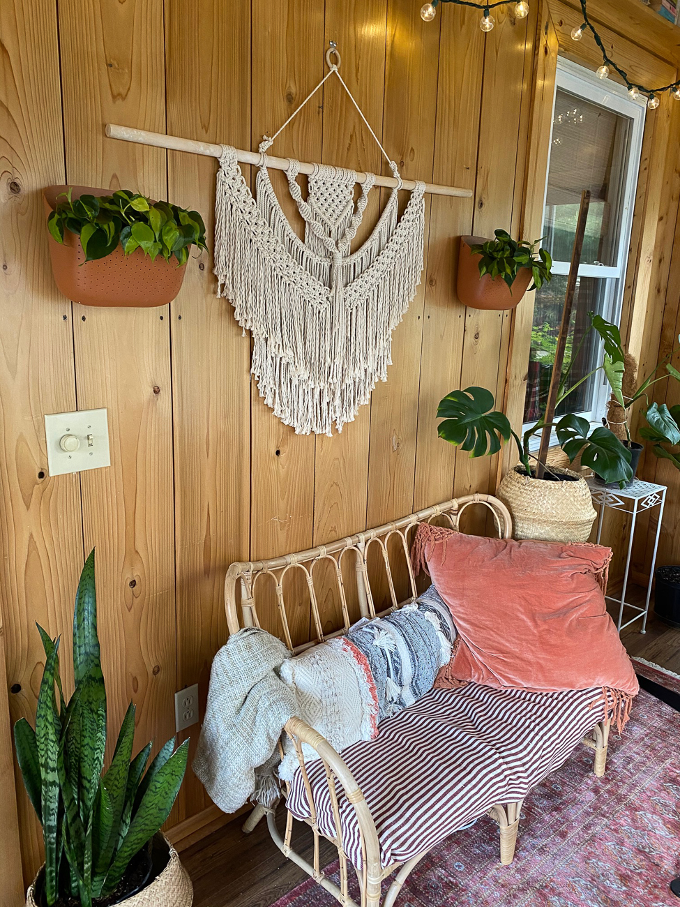 "Kathy Williams (IG: foliagecincy) from Sayler Park / ""This is the second year for my plant room. The huge southern facing windows and summer humidity make it the perfect home for my tropical foliage plants. What inspired this room was my need for a place to relax. I was a new stay at home mom and needed my own space to decompress in at the end of the day. My plants are not just a hobby, but a form of self-care."" / Image courtesy of Kathy Williams // Published: 6.13.20"