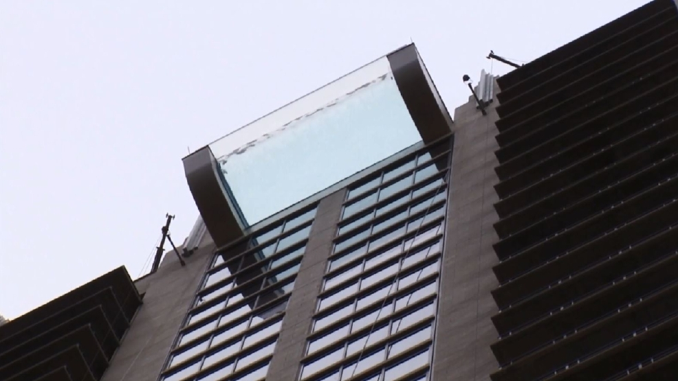 pool atop new houston high rise hangs over street wkrc
