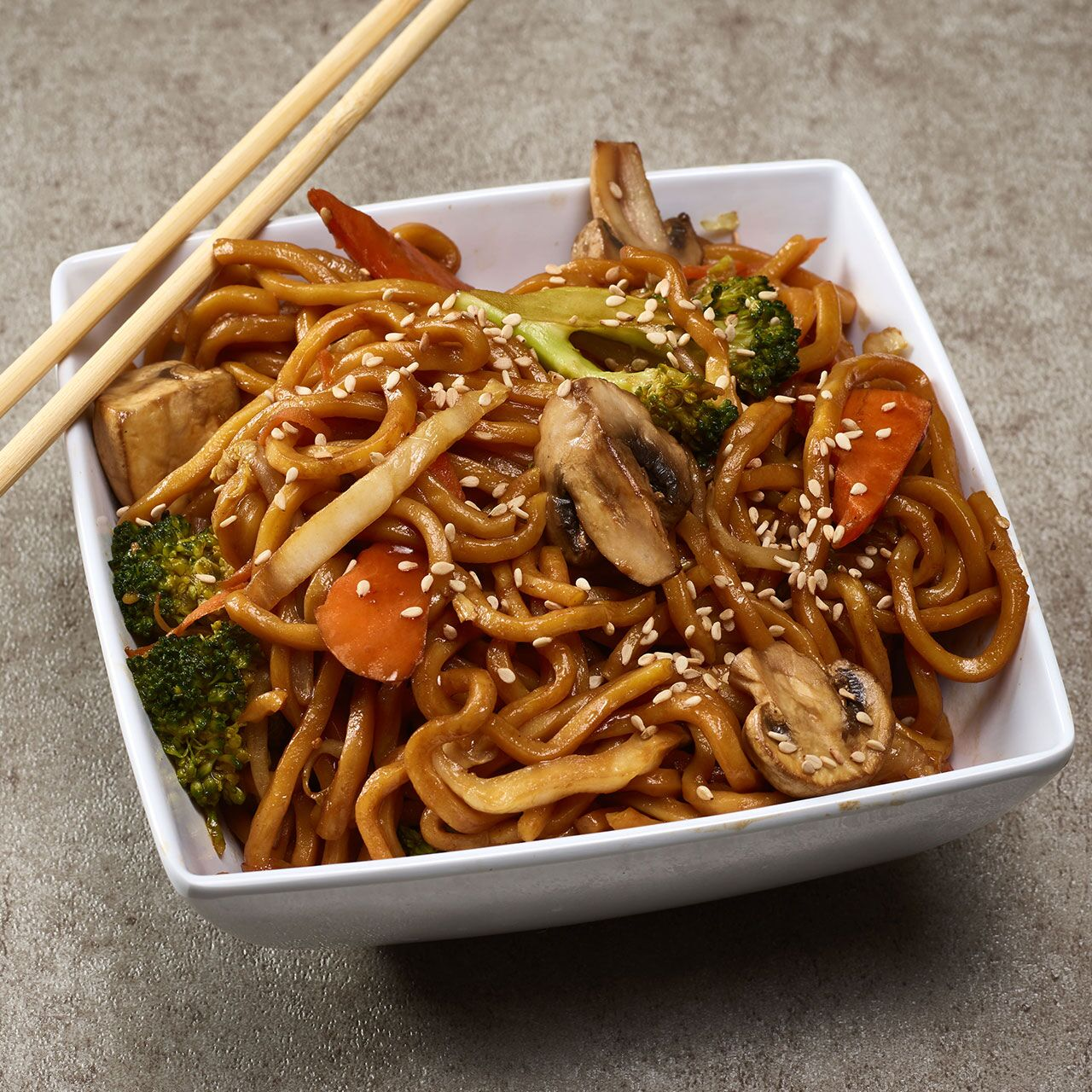 4.	Vegetable Lo Mein from Wok & Roll: Served with soft egg noodles{ } (Image: Courtesy Grubhub)