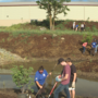 "New landscaping will act as ""natural sponge,"" natural filtration system for creek"