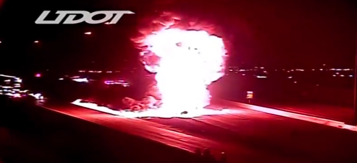 BREAKING: Double tanker vehicle explodes closing I-15 (Photo: UDOT)<p></p>