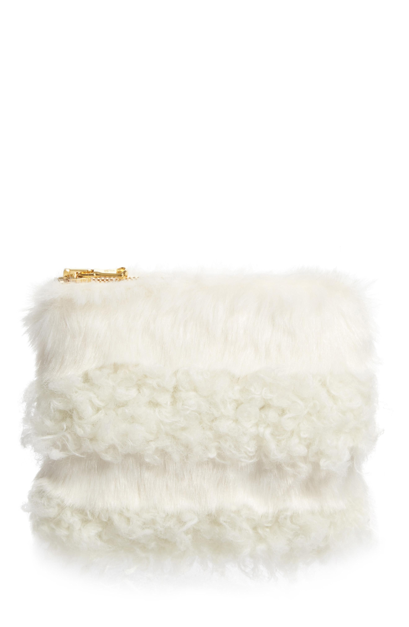 Shrimps Faux Shearling Clutch - $250. Get it at nordstrom.com/space. (Image: Nordstrom)