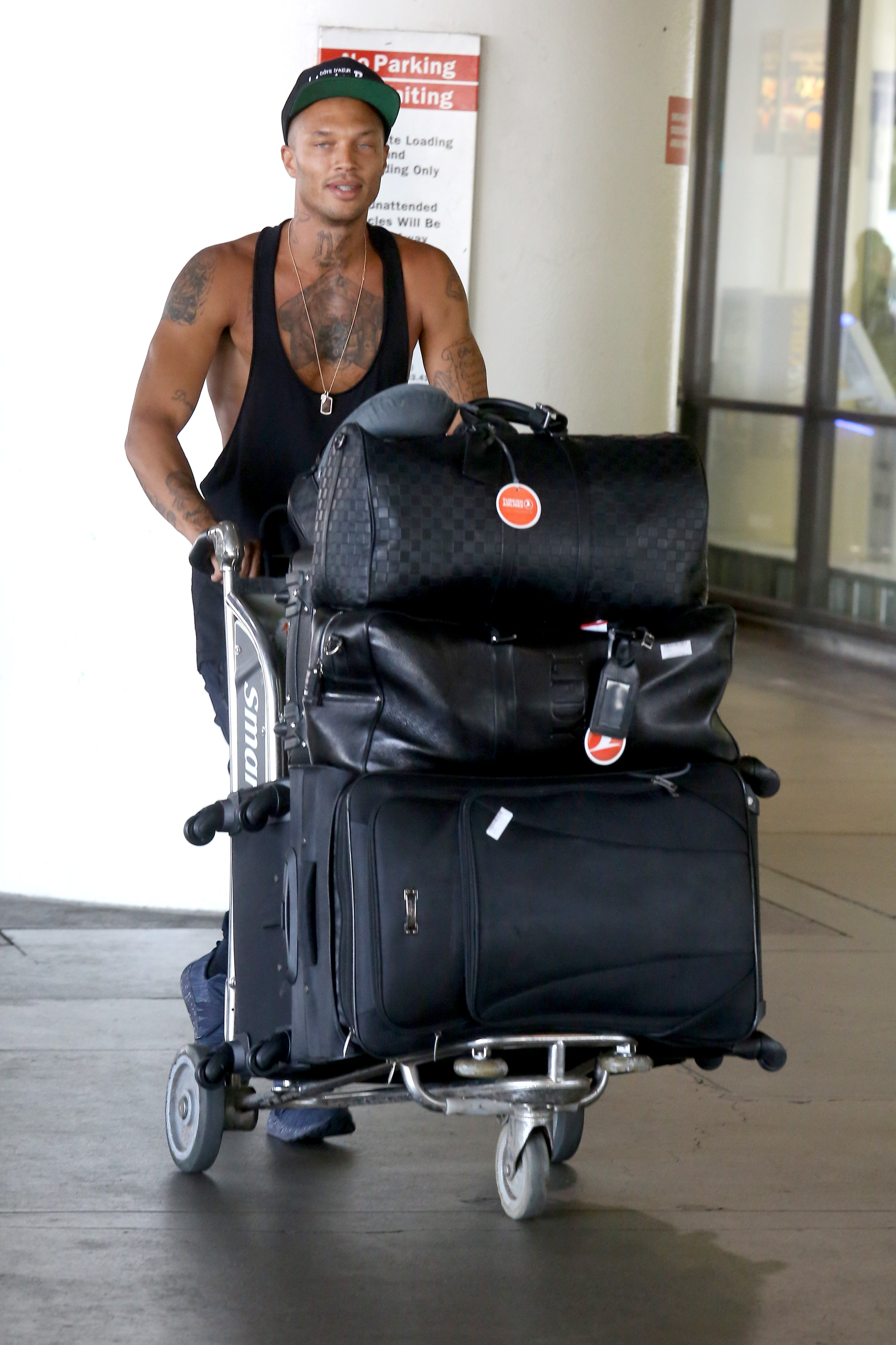 Jeremy Meeks on his arrival at Los Angeles International Airport in Los Angeles, California.  Featuring: Jeremy Meeks Where: Los Angeles, California, United States When: 03 Jul 2017 Credit: WENN.com