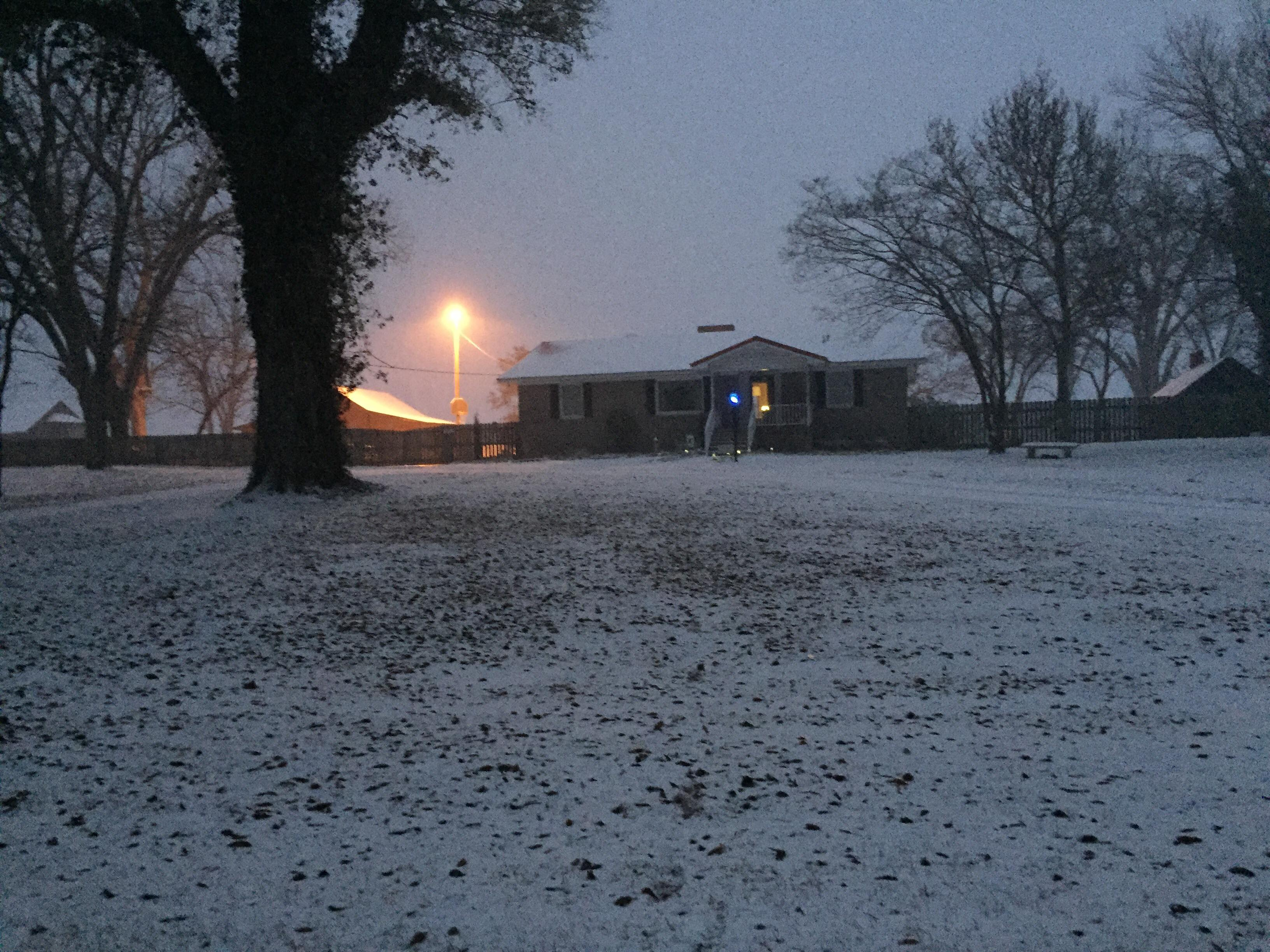 Snow in the country from Latta (Submitted by Allyson Luisetti)<p></p>