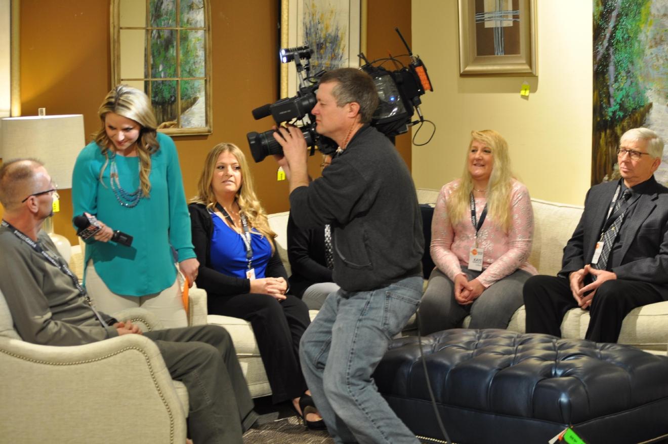 FOX 11u0027s Lauren Kalil Interviews Fabulous Furniture Giveaway Contestants,  March 2, 2016, At