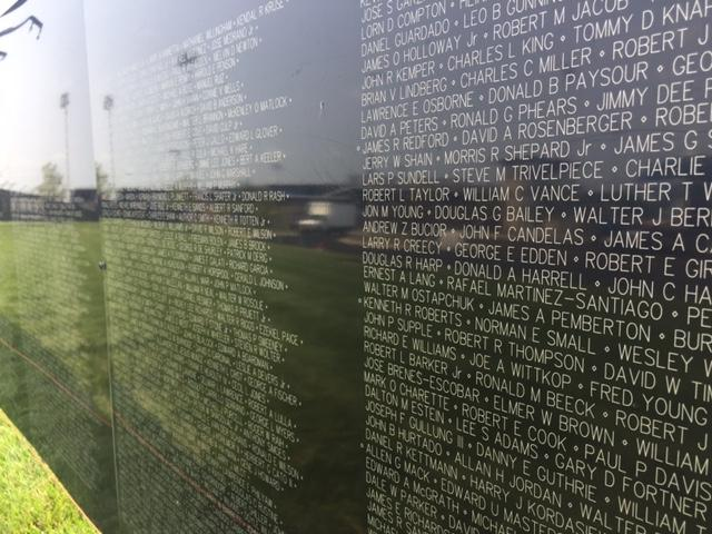 It has the more than 58,000 names of those who lost their lives in the Vietnam War.