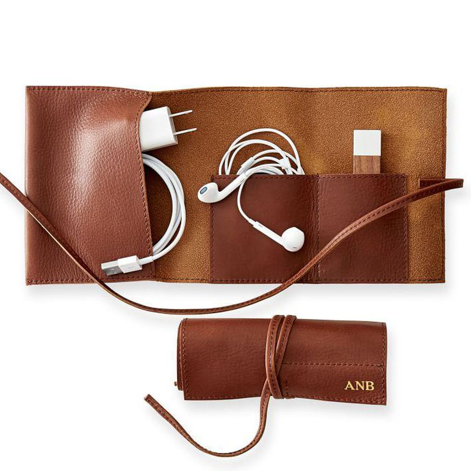 <p>There's nothing worse than forgetting your chargers, and with this organizer, dad never will. Normally $50, the Mark & Graham Leather Charger Roll Up Carrier is on sale now for $30. (Image:{&nbsp;}MARK AND GRAHAM){&nbsp;}</p><p></p><p></p>