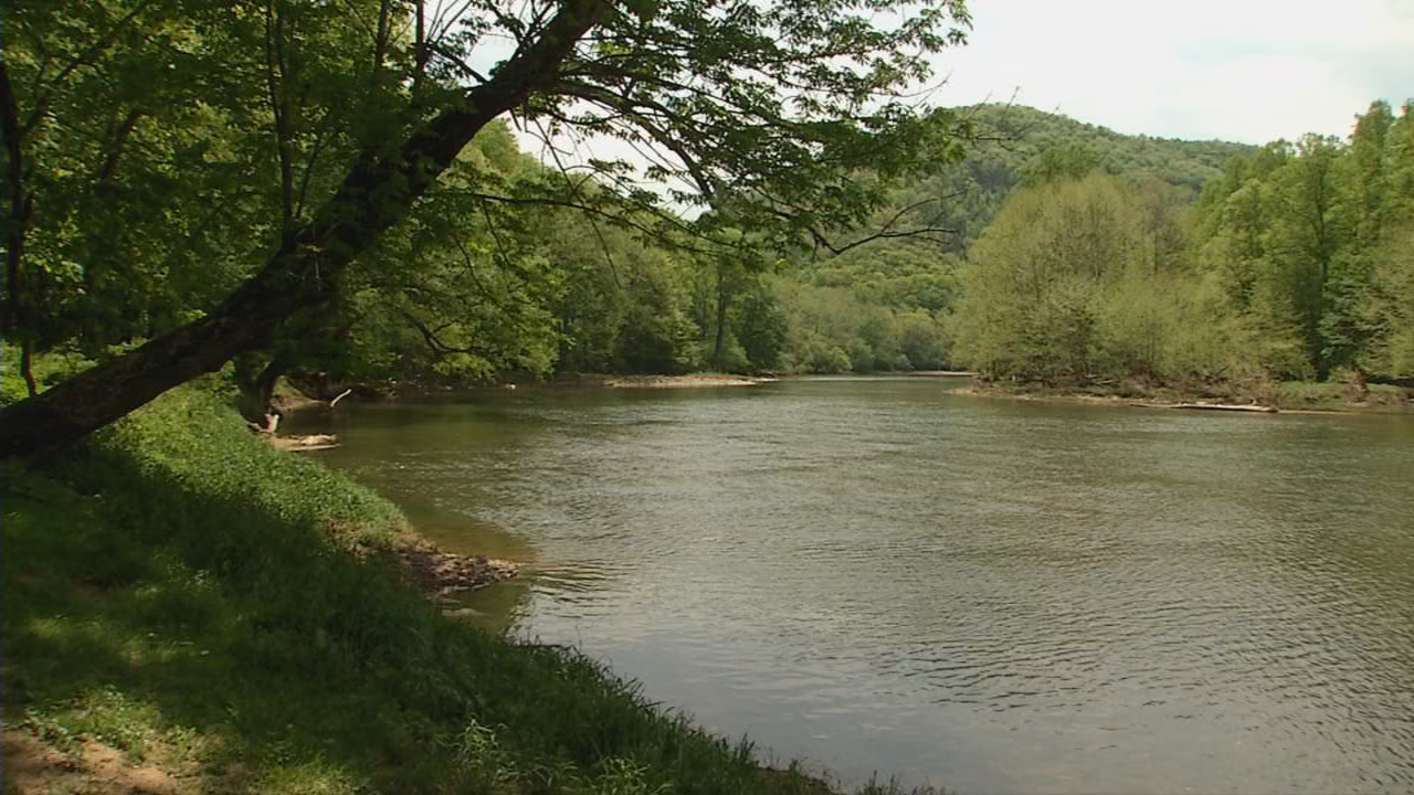 The beautiful Greenbrier River flows beside the cabins offering great fishing opportunities. (WCHS/WVAH)