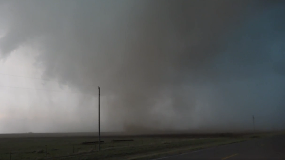 Inside the Storm: Large tornado's 106 mph winds blow through Frederick, Oklahoma