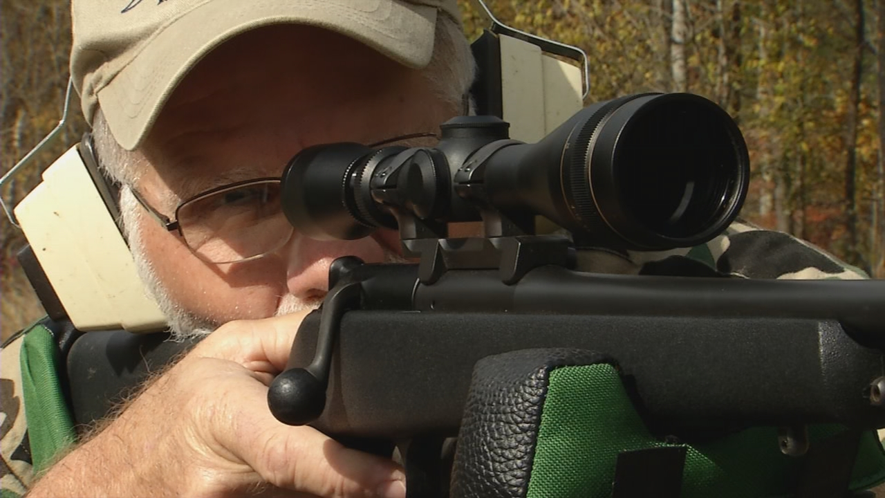 Avid hunter and firearms expert, Mark Smith, recommends sighting in your gun at 25 yards. (WCHS/WVAH)<p></p>