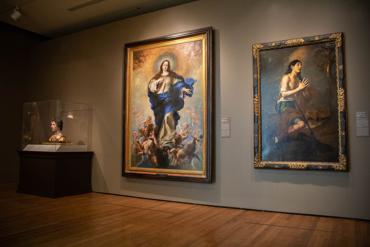"The latest exhibit at the Cincinnati Art Museum is ""Treasures of the Spanish World."" The collection made its Midwest debut to the public on Friday, October 25 and comes from the Hispanic Society of America in New York City. The exhibition consists of over 200 pieces of art, documents, and religious relics that delve into Spanish culture from the Iberian Peninsula (modern day Spain and Portugal) and Spanish America over the past 4,000 years. The assortment of historic artifacts was so big, it's been divided into three separate galleries that will be open through January 19, 2020. ADDRESS: 953 Eden Park Drive (45202) / Image: Katie Robinson, Cincinnati Refined // Published: 10.26.19"