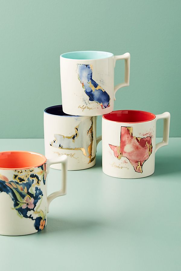 <p>Give a nod to home sweet home with these Whitney Winkler Home State Mugs. $14 (Image: Anthropologie){&nbsp;}</p><p></p>