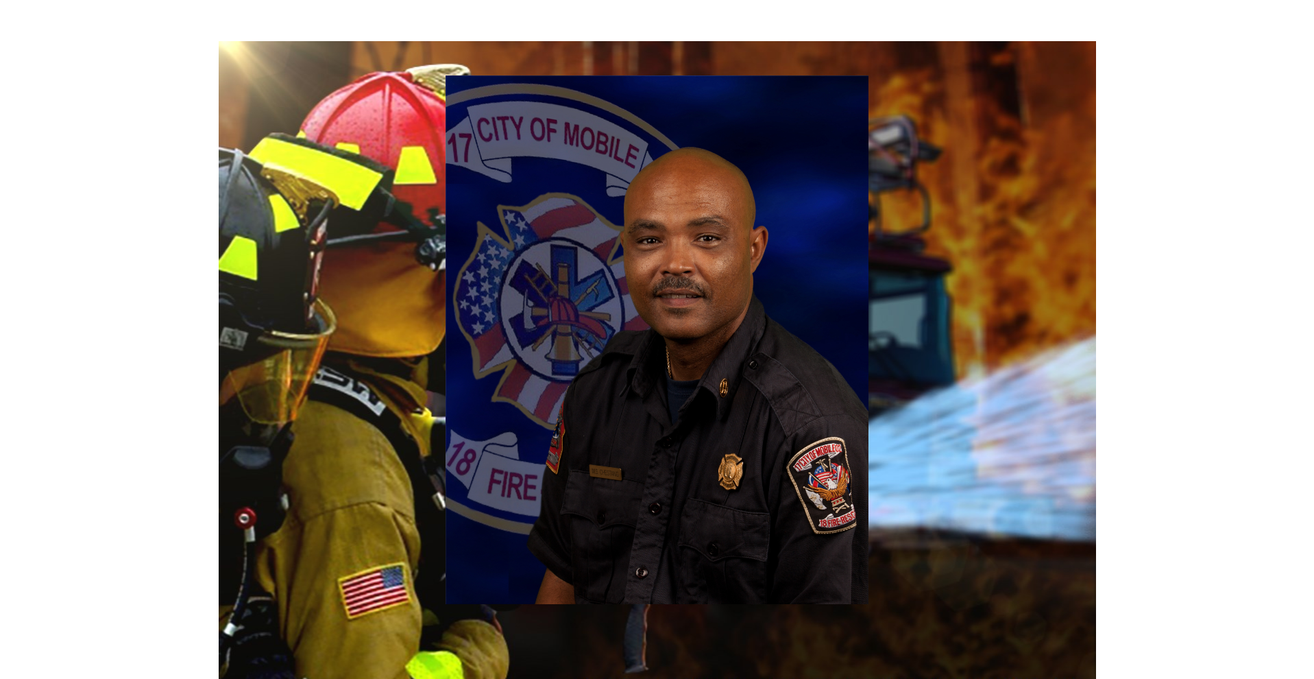 (image: MFRD)  Michael Chestang named February Firefighter of the Month in Mobile