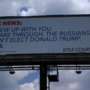 Boerne man renounces ABC News, shows support for Trump with large billboard